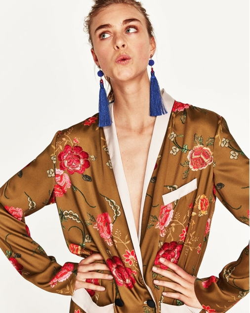 Zara floral print kimono £69.99